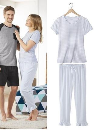 Нежная женская пижама домашний костюм esmara германия, футболк...