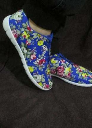 Новинка! яркие женские кроссовки, голубые или красные, р. 37