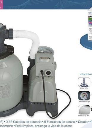 Песочный фильтрующий насос 8 м3/ч Intex 28648