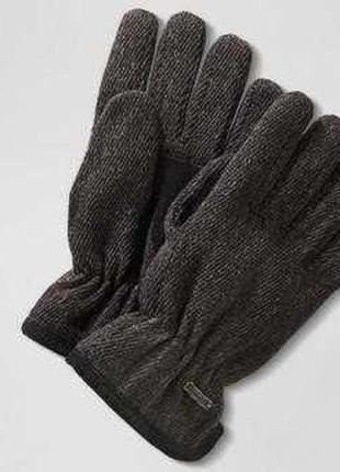 Теплые мужские термо перчатки с шерстью на флисе, thinsulate о...