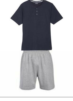 Мужская пижама домашний костюм livergy германия, футболка шорты
