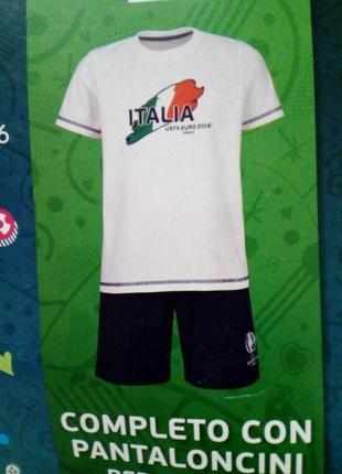 Детский летний костюм, футбольная форма lidl германия, футболк...