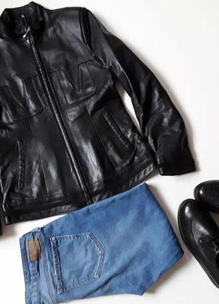 Короткая кожаная  куртка