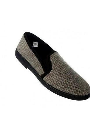 Мужские летние мокасины туфли тапочки, стелька 28 см