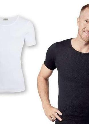 Мужская базовая футболка белая черная серая livergy германия