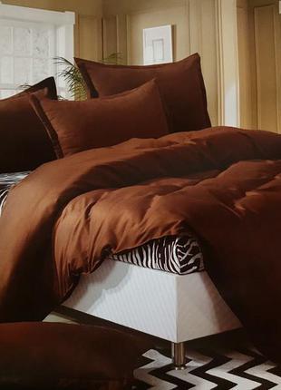 Комплект постельного белья коричневый