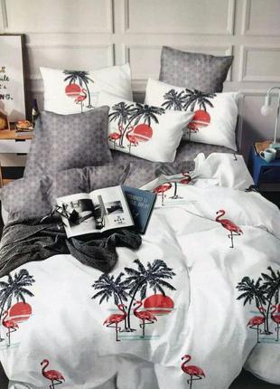 Комплект постельного белья фламинго
