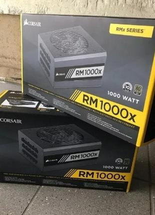 Блок питания Corsair RM1000X, Сертификат уровня Gold