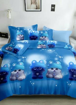 Детское постельное белье с котиками
