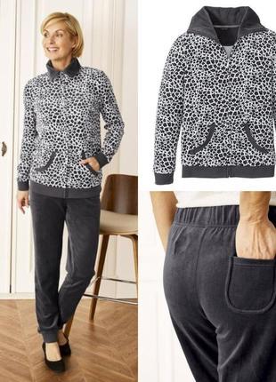 Шикарный велюровый костюм esmara германия, штаны джоггеры кофта