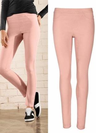 Красивые женские джеггинсы джинсы esmara германия, цвет пудры