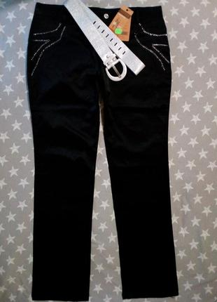 Стильные джинсы, брюки со стразами, штаны
