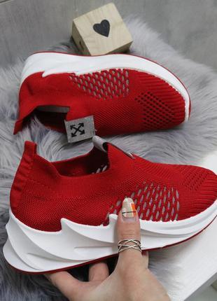 Кроссовки женские дышащие красные