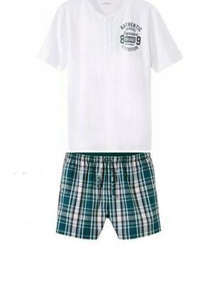 Шикарный летний комплект, мужская пижама домашний костюм liver...