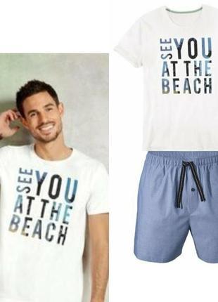 Шикарный летний комплект мужская пижама домашний костюм liverg...