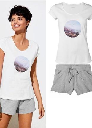 Женский летний костюм или домашний esmara германия, футболка ш...