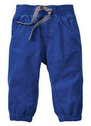 Детские летние вельветовые штаны джоггеры lupilu германия, р. 74+