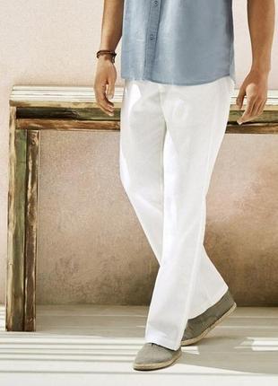 Мужские льняные штаны брюки из льна livergy германия