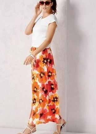Ярка летняя юбка в пол макси esmara германия