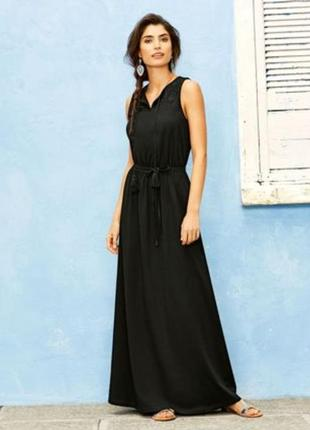 Шикарное длинное платье в пол с кружевом, сарафан макси esmara...