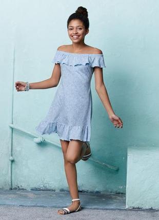 Красивое детское платье с воланом сарафан pepperts германия