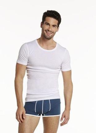 Мужская белая базовая футболка livergy германия