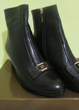 Роскошные женские кожаные ботинки ботильоны velly, натуральная...