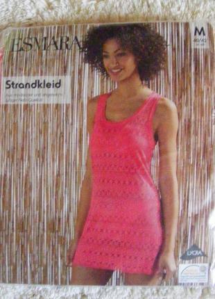 Яркое пляжное платье туника сетка esmara германия
