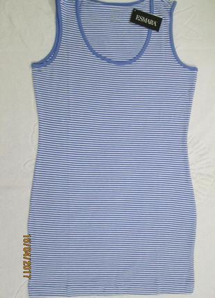 Удлиненная майка платье топ футболка esmara германия