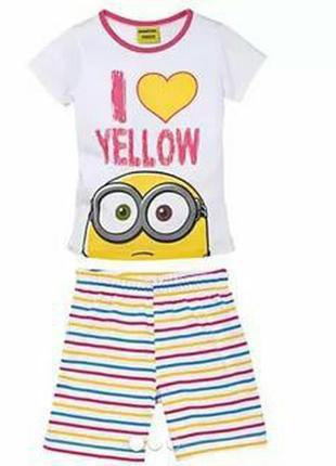 Детский летний комплект пижама домашний костюм lupilu германия...