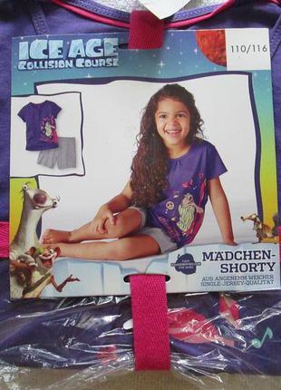 Детский летний комплект пижама домашний костюм lupilu люпилю г...