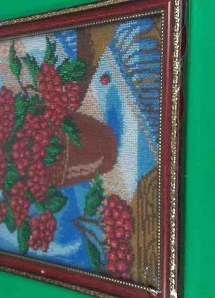 Картина Бисером Цветы 30х39 см