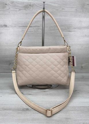 Женская сумка-клатч ava бежевая