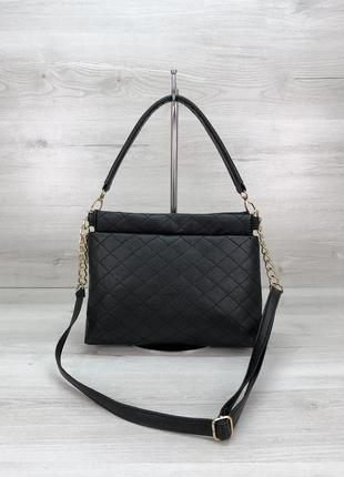Женская сумочка-клатч черная