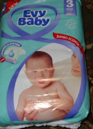 Подгузники Evy Baby 3 68 штук