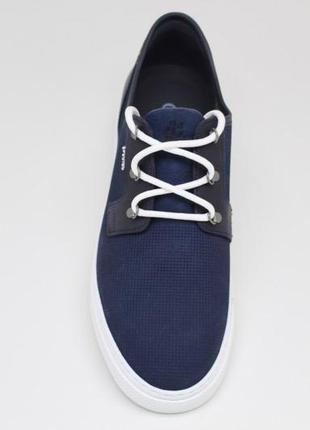 Натуральные кожаные мужские кроссовки мокасины туфли спортивно...