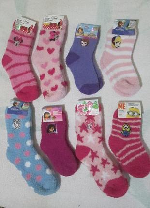 Сказочные носочки махровые травка теплые детские носки disney