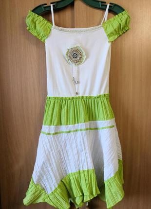 Платье летнее с бретелями