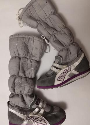 Тёплые сапожки бренда betty boop tm, стелька 24 см