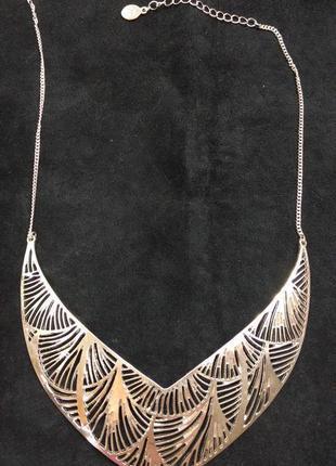 Колье цепочка украшение на шею ожерелье подвеска
