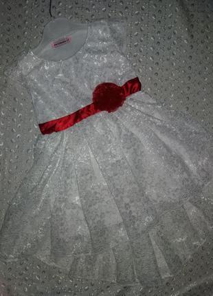 Платье на девочку гипюр белое