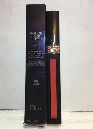 Продам матовую помаду Dior Rouge Dior Liquid №999