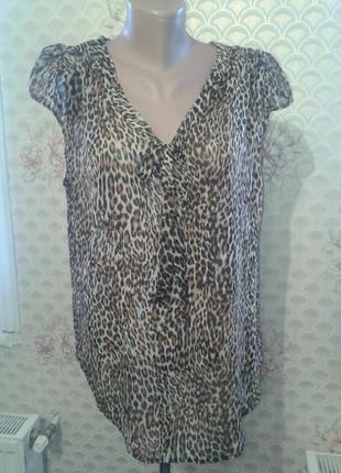 Блузка леопардовый принт