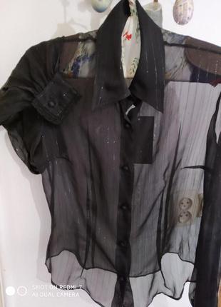 💯шовкова блуза-сорочка sportmax