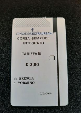 Билет на поезд, Италия