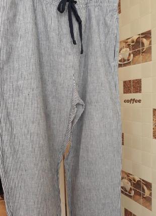 Женские летние брюки лен 44 размер.