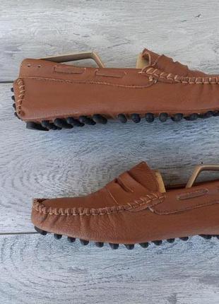 No brand мужские кожаные мокасины весна лето