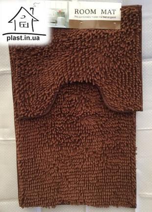 Набор ковриков лапша в ванную комнату и туалет 90*60 см расцветки