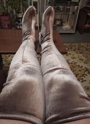 Бархатные ботфорты чулки огонь, на не худые ножки 40 размер, l...