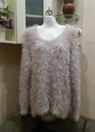 Мягусинький  бежевый свитер травка кофта модный свитшот  бренд...
